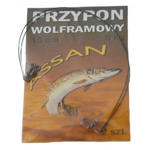PRZYPON WOLFRAMOWY 15 cm 5 kg